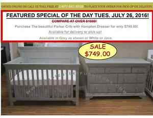 FREE DELIVERYGTA SAVE 50% OFF  BABY CRIBS. DAILY SPECIALS AVAIL.