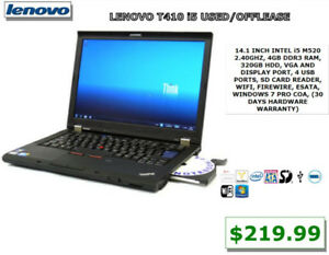 APPLE, ACER ,HP, DELL, LENOVO, TOSHIBA ALL USED LAPTOP