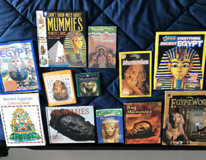 Ancient Egypt & Mummies , various children's books