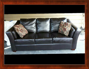Clean no smoking home leather couch