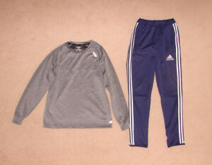 Matrix Shirt sz S, Adidas Pants sz L, Other Clothes-10, 12, L,14