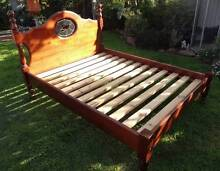 Queen Wooden Bed Frame with Leadlight Fitzroy Prospect Area Preview