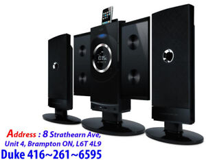 USB, SD, AUX, HiFi Audio System, iLuv iMM9400 Vertical 4 CD/MP3