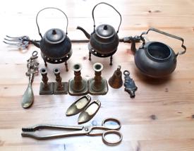 Brass ornaments joblot 16 items
