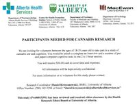 Research Participants Needed: Effects of Cannabis on Cognition