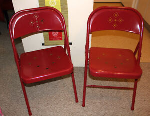 RED FOLDING CHAIRS - IN EXCELLENT CONDITION!