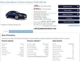 Mercedes-Benz C200 2.0 ( 184ps ) ( s/s ) Auto 2017MY AMG Line Premium