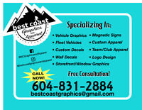 Best Coast Graphics and Apparel DECAL, DESIGN AND APPAREL