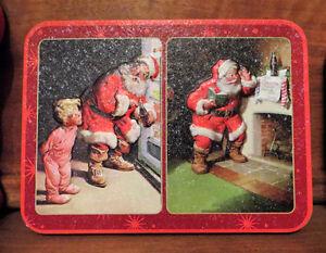 Christmas Collectible Tins, 5 sets of playing cards, Coca-Cola Edmonton Edmonton Area image 3