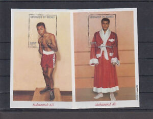 Postage Stamps _2 Souvenir Sheets _ Mohammad Ali _ MNH