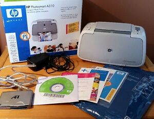 HP Photosmart A310 Compact Photo Printer, Paper, SD Card Reader