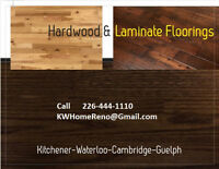 Hardwood-Laminate-Vinyl-Ceramic Floorings.   No job is Too Big