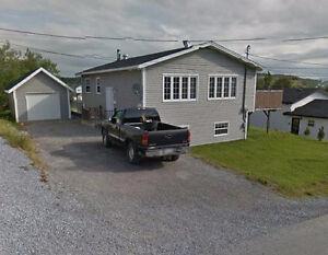 3 BEDRM HOME PLUS 1 BEDRM APT. DETACHED GARAGE.CORNER BROOK.