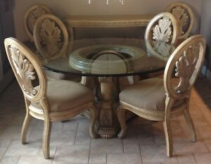 PRICE REDUCED 8 Pc Solid Ash Schnadig Empress Dining Room Set