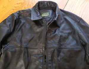 Men's leather jacket L