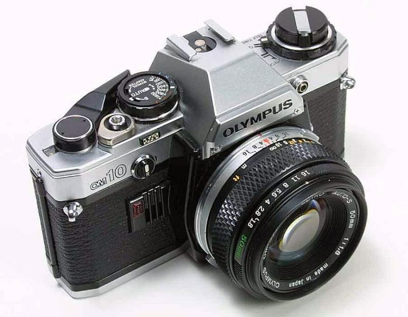 Olympus OM-10 Camera with F.Zuiko 50mm F/1.8 Lens -- Good Working Conditions