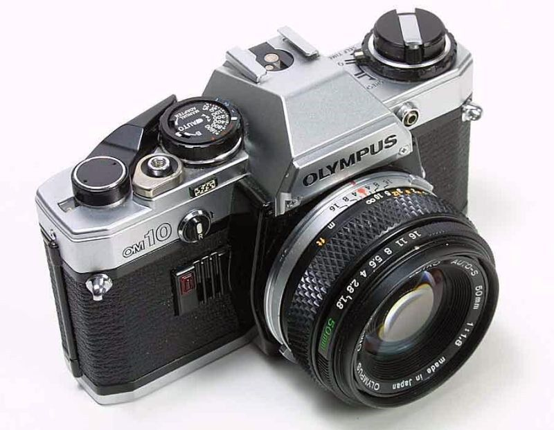 Olympus OM-10 Camera with F.Zuiko 50mm Lens -- Tested! Good Meter! Working