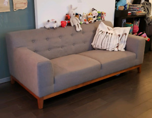Structube Weber Grey Couch/Sofa
