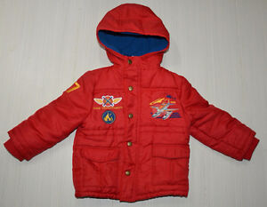 Disney Store Planes: Fire & Rescue Red Winter Jacket 3T