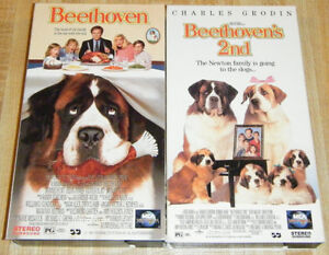 Beethoven and Beethoven2 VHS Tapes +Another Child's VHS Tape