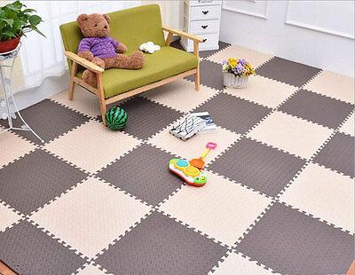 10x Eva Foam Puzzle Exercise Play Mat Interlocking Floor Soft Tiles