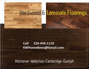 Hardwood-Laminate-Vinyl-Ceramic Floorings.   No job is Too Big Kitchener / Waterloo Kitchener Area image 1