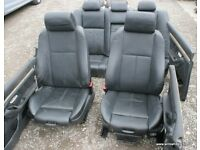 BMW E39 Black M Sport Leather Interior Seats Door Cards 540i 535i 530d 530i 528i 525i 525tds
