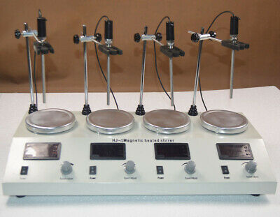 4 Station Magnetic Stirrer Hotplate Stirrers Laboratory Agitator Heater