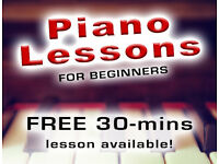 Piano Lessons for Adults and Children - Piano & Music Theory Teacher in Ealing Broadway