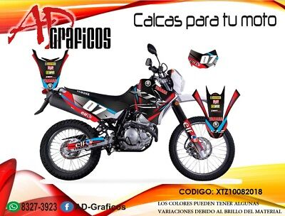 yamaha xtz 125 decals graphics calcomanías kit  for sale  Shipping to South Africa