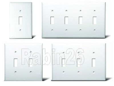 SWITCH PLUG PLASTIC WALL COVER PLATE 1 2 3 4 GANG WHITE 3 Gang Switch Cover