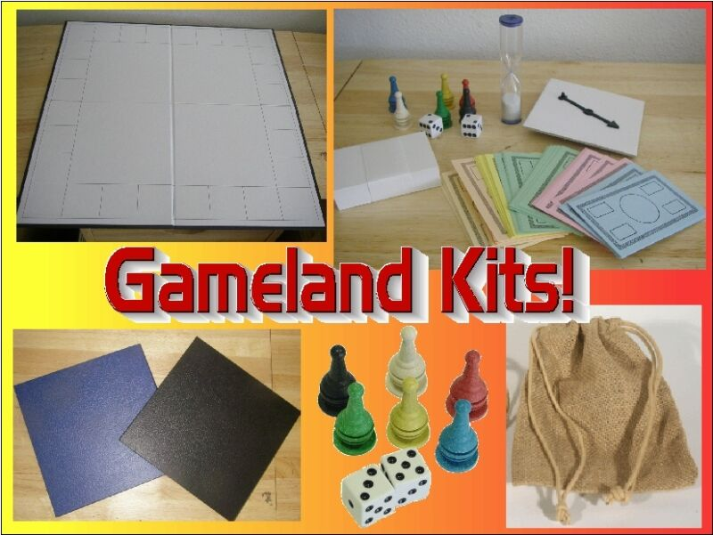 Blank Game Board Kit with Game Pieces - Create Your Own Board Games!