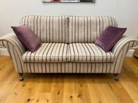 Laura Ashley purple striped Sofa