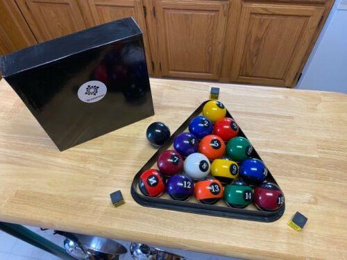 Reversed BLACK & WHITE Pool Billiard Balls Set Bundle 2.25 - Top Selling Product
