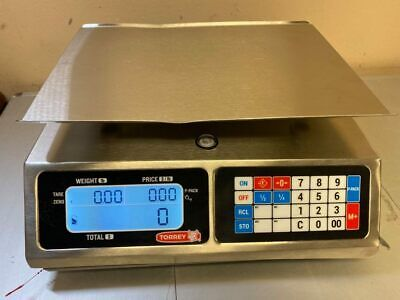 Used Torrey Lpc-40l Price Computing Scale 40x0.01 Lb Built In Rechargeable