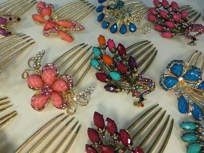 US Seller-wholesale lot 12 pcs antique style decorative french twist hair comb