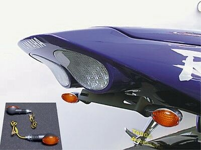 2001   2002 Yzf R6 Targa Fender Eliminator Tail Kit Led Tag   Amber Turn Signals
