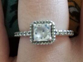 Pandora ring, silver, size 54