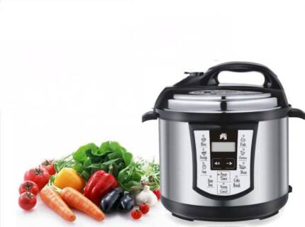 8-in-1 ELECTRONIC PRESSURE COOKER ST.STEEL 1000W 6 LTR NON-ST