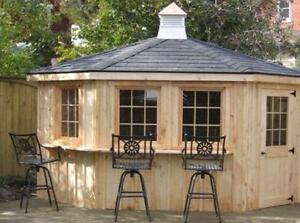 Cabanas and Pool Change Houses - In Stock or Custom Order