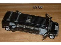 Hummer Limousine Model Car with Lights Great Display Item