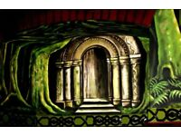 Wall paintings, Murals,, interior decoration