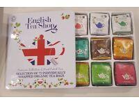 English Tea Shop 72 sachets organic tea - metal gift box - unopened