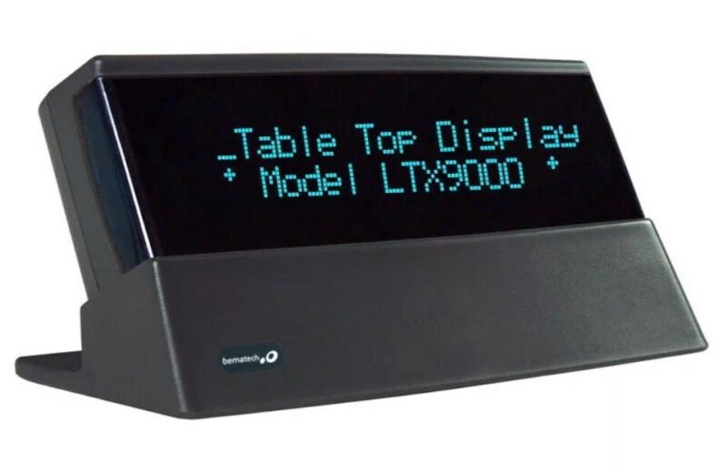 NEW - Bematech LTX9000BT-GY Tabletop Bluetooth Customer Display