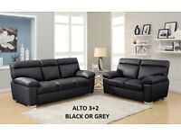 3+2 Alto leather sofa, black or light grey, look at all the sofas to choose, many on offer from £199