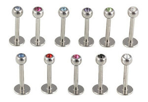 Gem-Steel-Labret-Lip-Monroe-16g-Choose-Gem-Colour-Length-6mm-8mm-10mm-GL