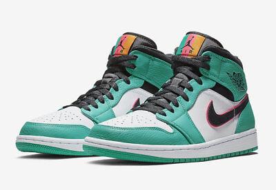 67f2d2e0bf0e97 Nike MEN S Air Jordan 1 Mid SE SOUTH BEACH SIZE 10.5 BRAND NEW Riverwalk AJ1