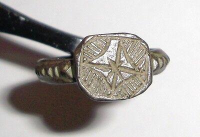 Ancient Byzantine Empire, 8th - 10th c. AD. Bronze Ring, Cross