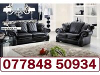 luxury Leather 3+2 Diana Sofa + Delivery