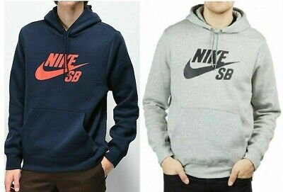 NIKE SB Icon Mens Hoodie Swoosh Logo Top Hooded Pull Over Fleece Hoodie S M L XL
